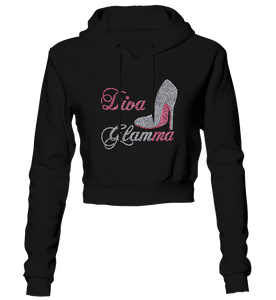 Diva Glamma Bling Cropped Hoodie