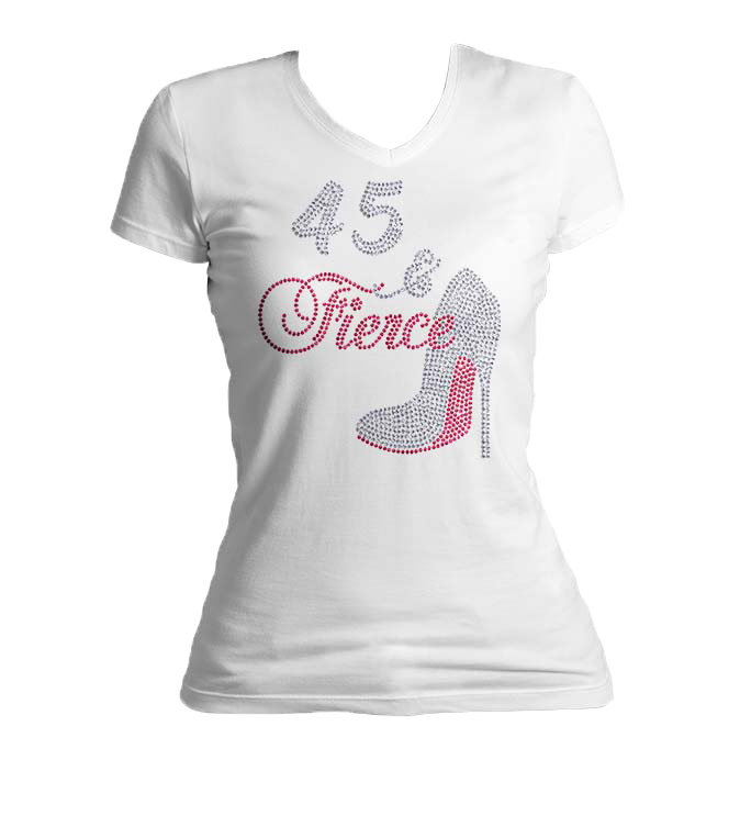 Fierce Birthday Bling V-Neck Shirt