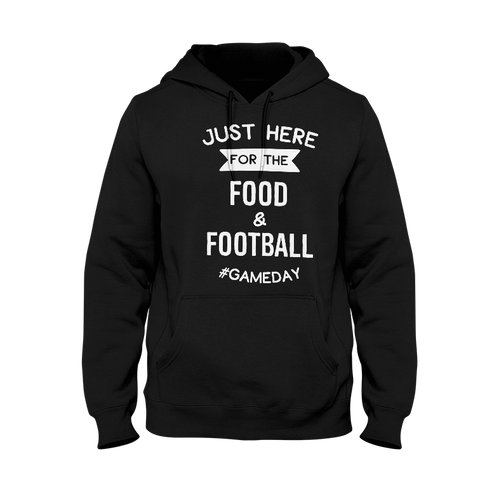 Just Here For The Food & Football Ladies Hoodie
