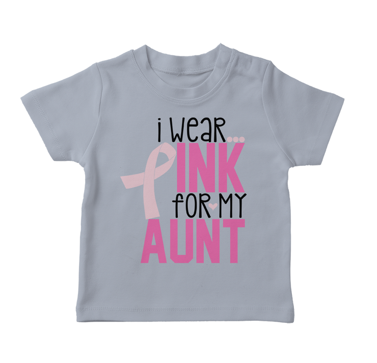 I Wear Pink For My Aunt Toddler T-Shirt