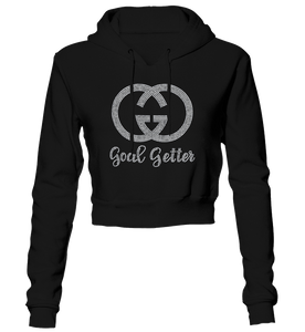 Goal Getter Bling Cropped Hoodie