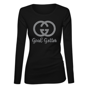 Goal Getter Bling Ladies Long Sleeve Shirt