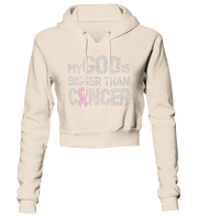 My God Is Bigger Than Cancer Bling Cropped Hoodie