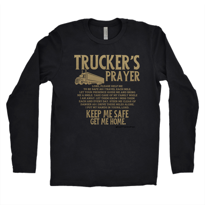 Trucker's Prayer Men's Long Sleeve Shirt