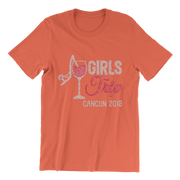 Girls Trip Destination w/Wine Glass Rhinestone Unisex Shirt