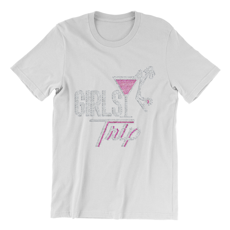 Girls Trip w/Martini Glass Bling Unisex Shirt
