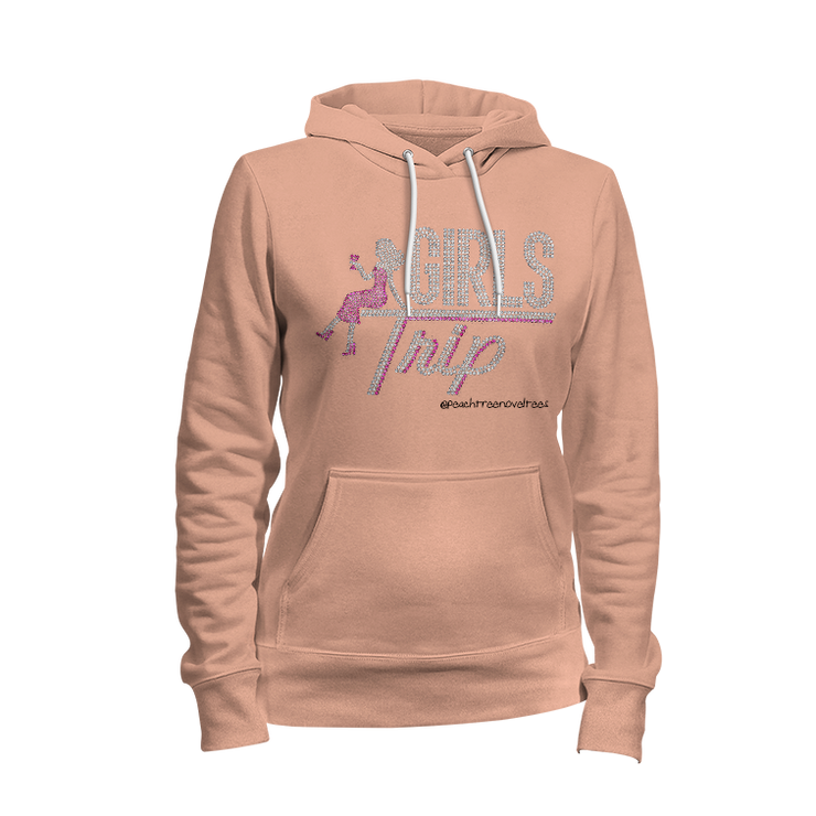 Girls Trip w/Lady Rhinestone Ladies Hoodie