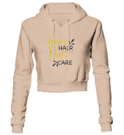 Gym Hair Don't Care Glitter Cropped Hoodie