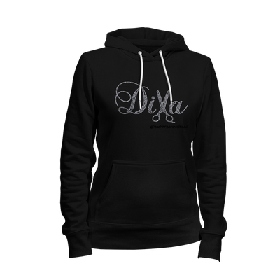 Diva Hair Stylist Rhinestone Ladies Hoodie