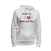 Heartbeat Of A Basketball Mom Ladies Hoodie