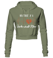 Heartbeat of a Basketball Mom Cropped Hoodie