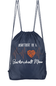 Heartbeat Of A Basketball Mom Drawstring Backpack