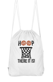 Hoop There It Is Drawstring Backpack