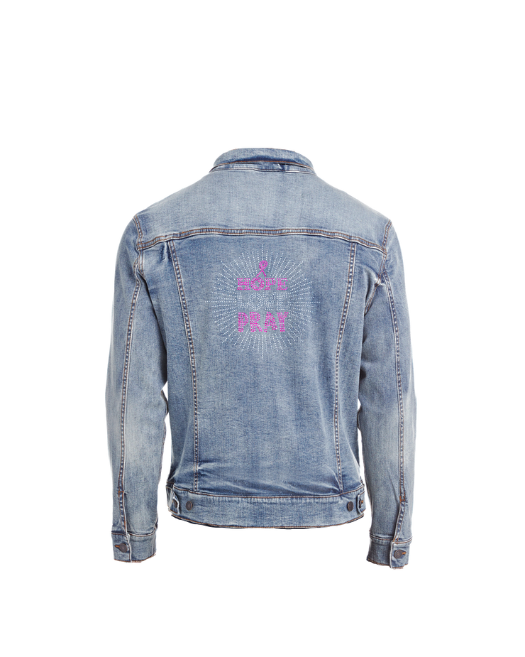 Hope Love Pray Bling Denim Jacket