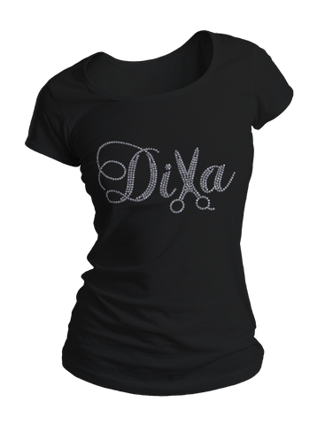 Diva Hair Stylist Bling Crew Neck Shirt