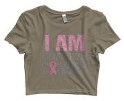 I Am Bigger Than Cancer Bling Crop Top
