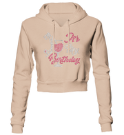 It's My Birthday Bling Cropped Hoodie
