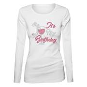 It's My Birthday Bling Ladies Long Sleeve Shirt