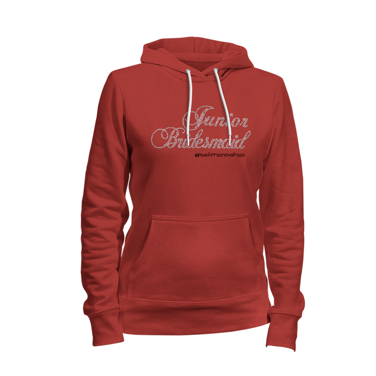 Junior Bridesmaid Rhinestone Ladies Hoodie