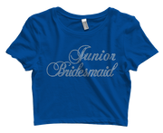Junior Bridesmaid Bling Crop Top