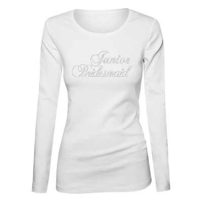Junior Bridesmaid Bling Ladies Long Sleeve Shirt