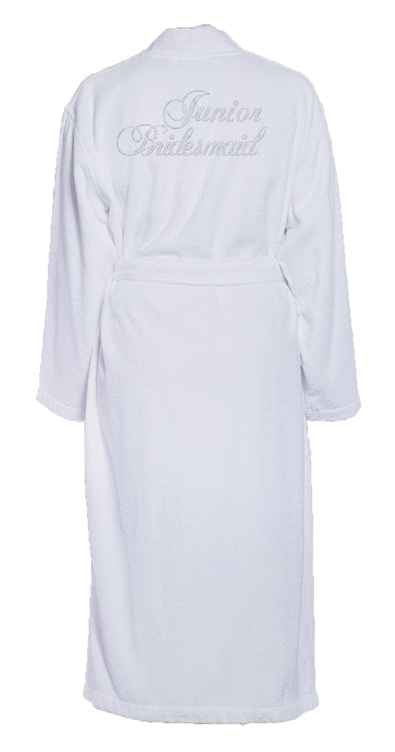Junior Bridesmaid Bling Turkish Cotton Bathrobe