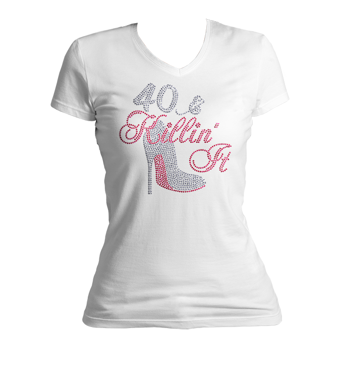 Killin' It Birthday Bling V-Neck Shirt