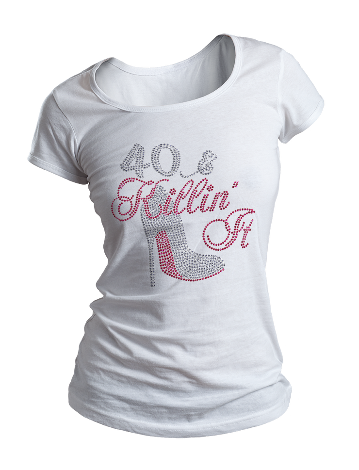 Killin' It Birthday Bling Crew Neck Shirt