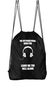The International Sign For Leave Me The Hell Alone Drawstring Backpack