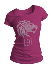 Leo Horoscope Bling Crew Neck Shirt