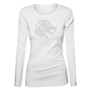 Leo Horoscope Bling Ladies Long Sleeve Shirt