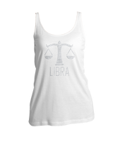 Libra Horoscope Bling Ladies Tank Top