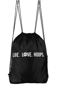 Live Love Hoops Drawstring Backpack