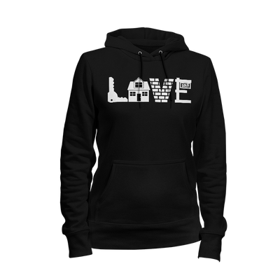 Love Real Estate Ladies Hoodie