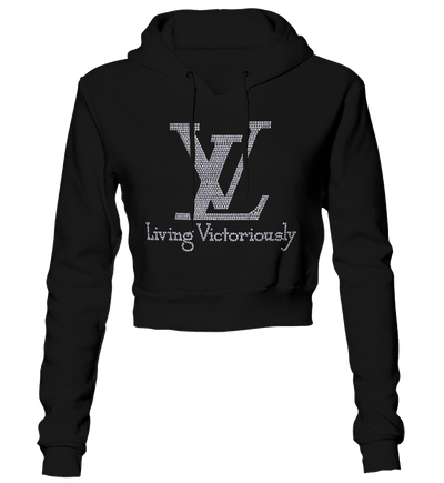 Living Victoriously Bling Cropped Hoodie