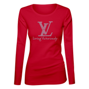 Living Victoriously Bling Ladies Long Sleeve Shirt