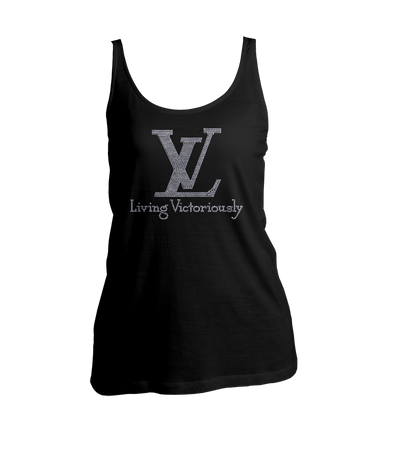 Living Victoriously Bling Ladies Tank Top