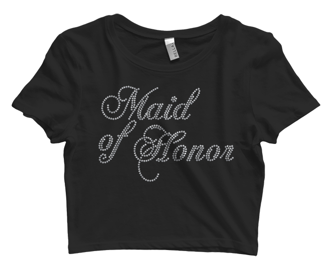 Maid of Honor Bling Crop Top