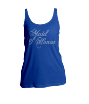 Maid of Honor Bling Ladies Tank Top