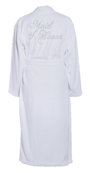 Maid of Honor Bling Turkish Cotton Bathrobe