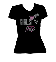 Girls Trip Martini Bling V-Neck Shirt