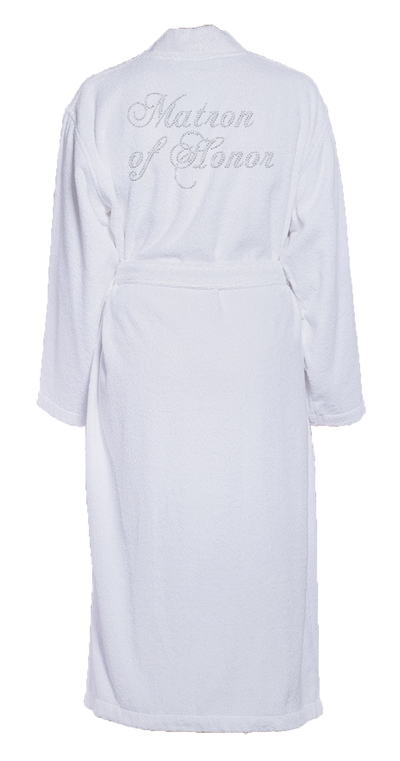 Matron of Honor Bling Turkish Cotton Bathrobe