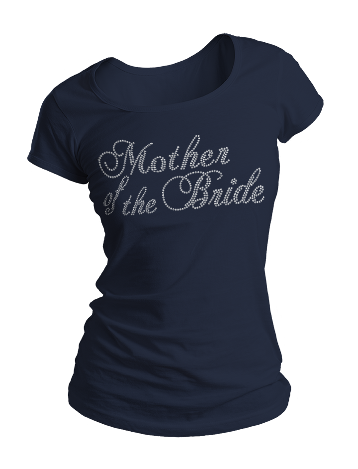 Mother of the Bride Bling Crew Neck Shirt