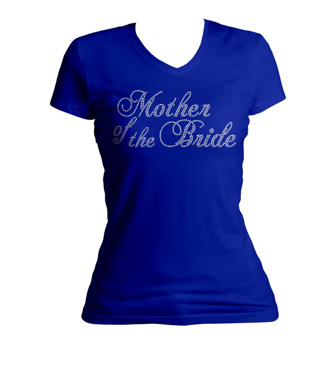 Mother of the Bride Bling Ladies V-Neck Shirt