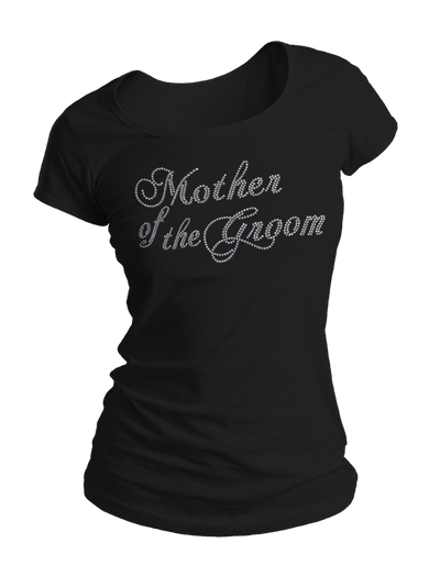 Mother of the Groom Bling Crew Neck Shirt