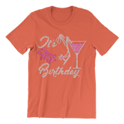 It's My Birthday w/Martini Glass Rhinestone Unisex Shirt