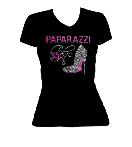 Paparazzi Chic Bling V-Neck Shirt