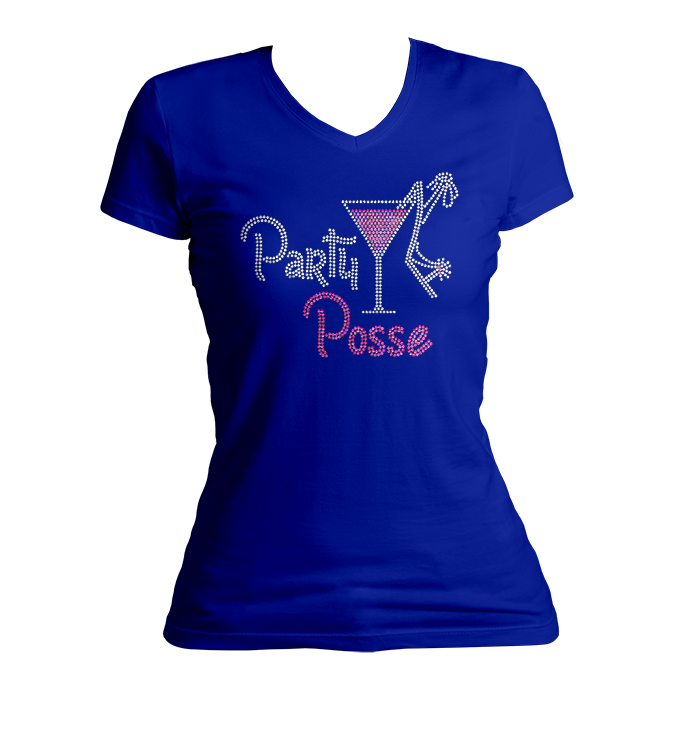 Party Posse Bling V-Neck Shirt