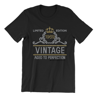 Limited Edition Aged to Perfection Rhinestone Unisex Shirt