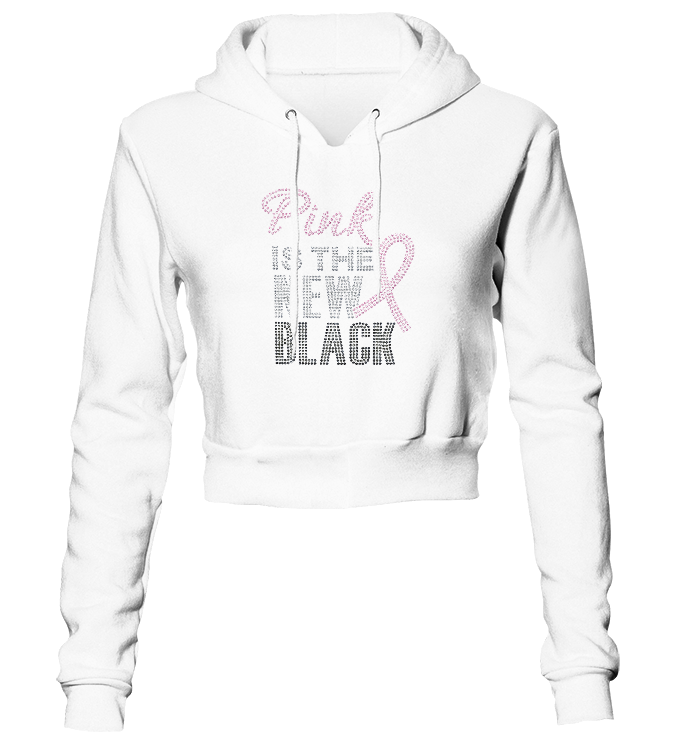 Pink Is The New Black Bling Cropped Hoodie